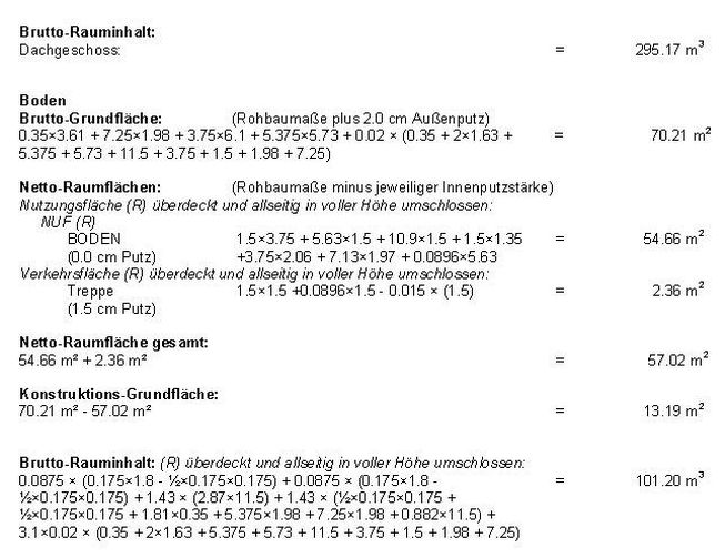 nutzflächenberechnung din 277 formular